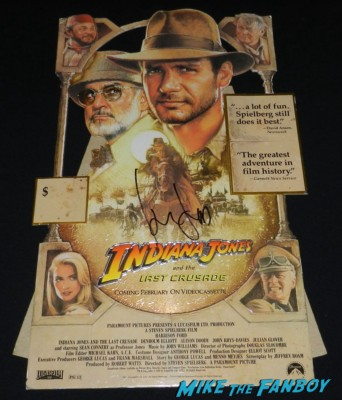 Harrison ford signed autograph indiana jones and the last crusade foil counter standee signing autographs and greetin fans tonight show 017