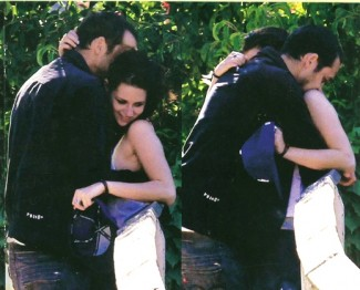 Kristen Stewart kissing married man rare