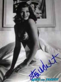 frank darabont signed sexy photo rita hayworth mob city photo rare promo
