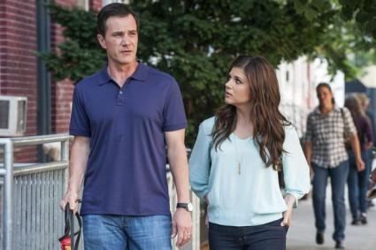 "White Collar - Season 4 WHITE COLLAR -- ""Family Business"" -- Pictured: (l-r) Tim DeKay as Peter Burke, Tiffani Thiessen as Elizabeth Burke -- (Photo by: David Giesbrecht/USA Network)"