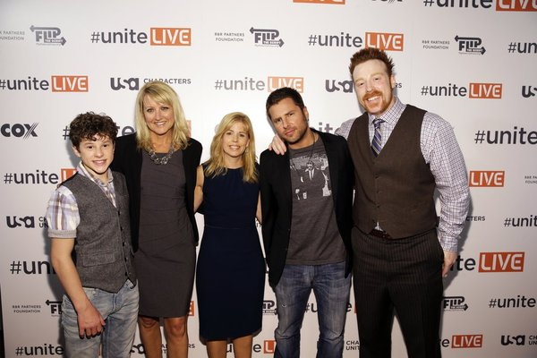 """""""USA Network, R&R Partners Foundation's Flip the Script, Cox Communications and MGM Resorts International host #UniteLIVE: The Concert to Rock Out Bullying headlined by recording artist Carly Rae Jepsen"""" -- Pictured: (l-r) -- (Photo by: Isaac Brekken/USA Network)"""