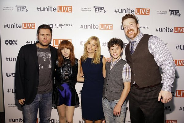 """USA Network, R&R Partners Foundation's Flip the Script, Cox Communications and MGM Resorts International host #UniteLIVE: The Concert to Rock Out Bullying headlined by recording artist Carly Rae Jepsen"" -- Pictured: (l-r) -- (Photo by: Isaac Brekken/USA Network)"