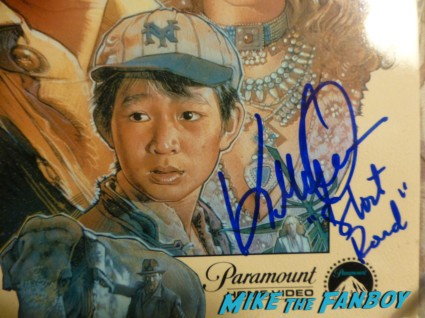 Indiana Jones and the Temple of doom signed laser disc Ke Huy Quan signed rare