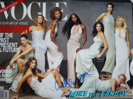 Amber Valetta signed autograph vogue magazine