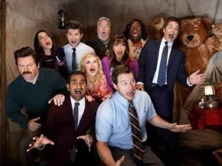 Parks and Recreation cast photo rare promo amy poehler