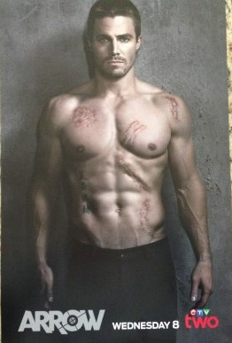 stephen amell shirtless arrow limited edition promo poster canadian
