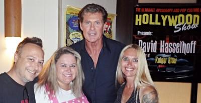 David Hasselhoff fan photo signing autographs baywatch rare hollywood show promo photo