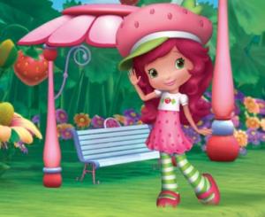 Strawberry Shortcake Berry Bitty Mysteries rare promo logo
