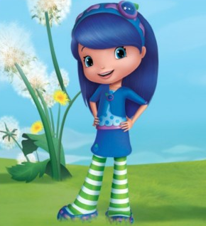 blueberry muffin character image Strawberry Shortcake Berry Bitty Mysteries rare promo logo
