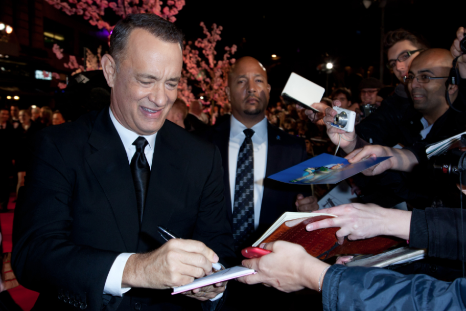tom hanks signing autographs Saving Mr. Banks movie premiere london film festival red carpet