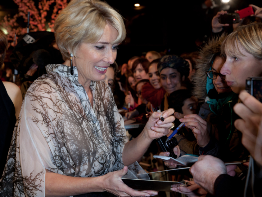 emma thompson signing autographs Saving Mr. Banks movie premiere london film festival red carpet