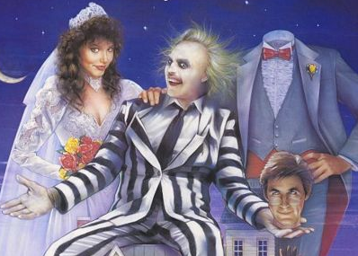 beetlejuice logo movie poster one sheet rare