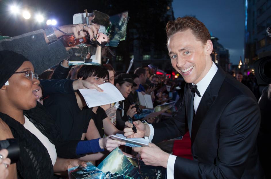 tom hiddleston at the Thor The Dark World London premiere