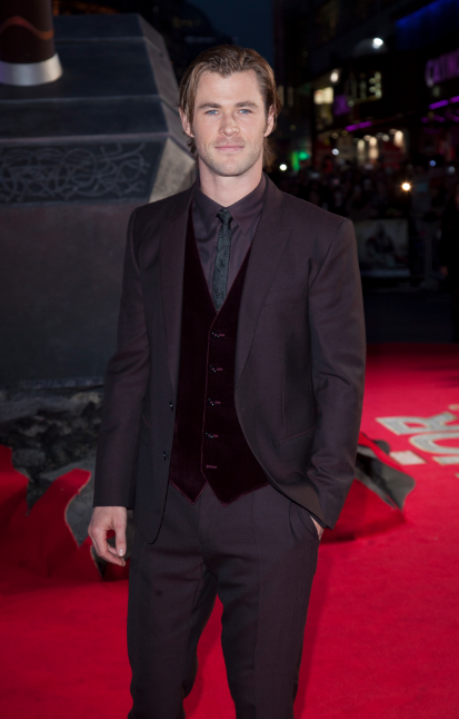 Chris Hemsworth at the Thor The Dark World London premiere