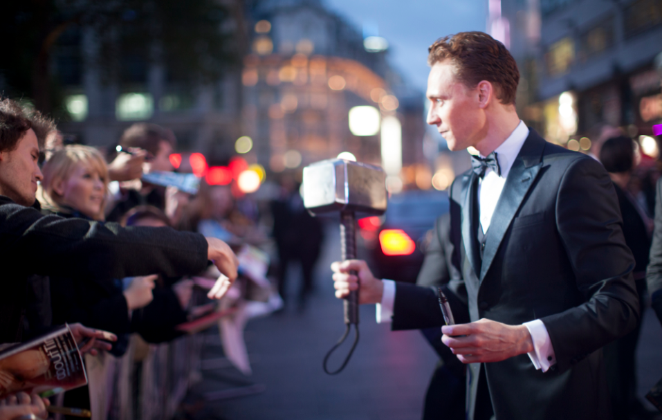 tom hiddleston at the Thor The Dark World London premiere