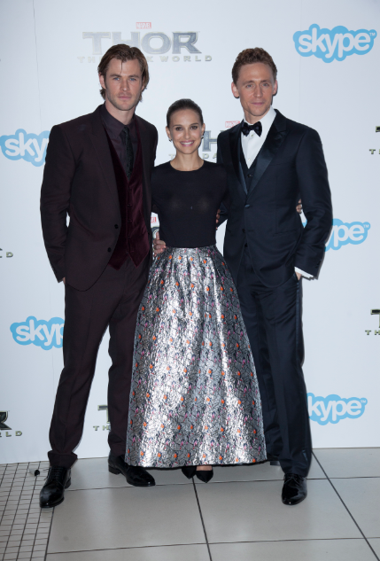 chris hemsworth natalie portman Thor The Dark World London premiere