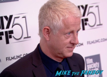 Richard Curtis on the red carpet at the about time new york film festival premiere richard curtis bill nighy