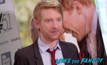 Domhnall Gleeson on the red carpet at the about time new york film festival premiere richard curtis bill nighy