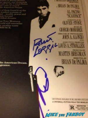 al pacino signed scarface poster