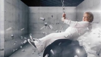 betty white riding a wrecking ball like miley cyrus
