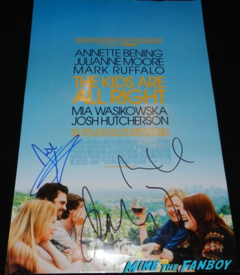 the kids are alright mini poster signed autograph julianne moore josh hutcherson mia signed movie poster rare