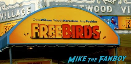 free birds movie premiere owen wilson amy poehler red carpet Free Birds Movie Premiere Recap! Amy Poehler! Woody Harrelson! Owen Wilson! And A Kickin' Afterparty!