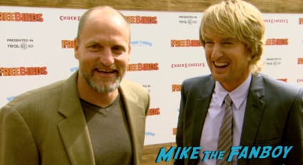 woody harrelson on the red carpet free birds movie premiere owen wilson amy poehler red carpet Free Birds Movie Premiere Recap! Amy Poehler! Woody Harrelson! Owen Wilson! And A Kickin' Afterparty!