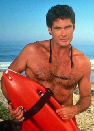 david hasselhoff shirtless photo from baywatch