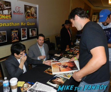 Jonathan Ke Huy Quan signing autographs for fans at hollywood show julie newmar signing autographs catwoman barbie 009