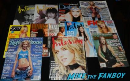vintage magazines christina aguilera rolling stone magazines vanity fair brad pitt