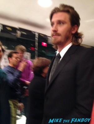 Garrett Hedlund inside llewyn davis movie premiere signing autographs rare