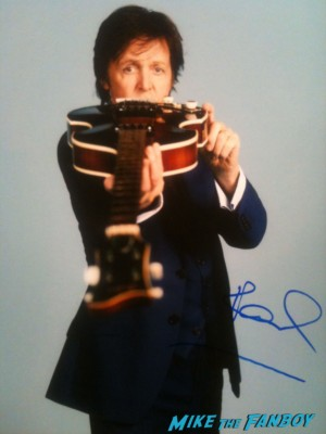 paul mccartney beatle signed autograph photo rare promo