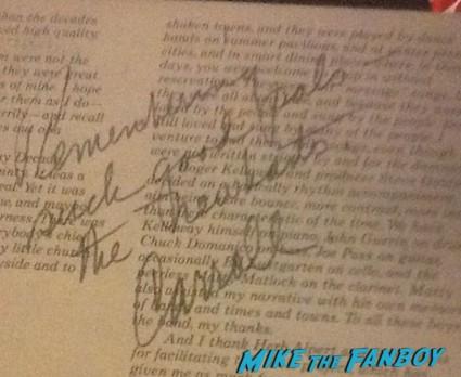carol o'connor signed autograph lp rare
