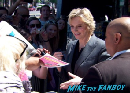 jane lynch walk of fame star ceremony signing autographs (1)