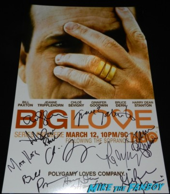 big love signed autograph season one promo poster rare jeanne trippleh signing autographs for fans big love q and a 003