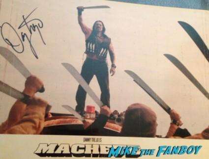 danny trejo signed autograph machete promo lobby card rare Machete rare press promo still danny trejo