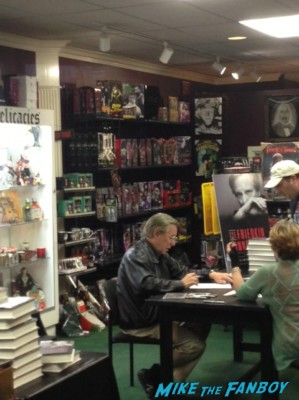 William Friedkin signing autographs for fans dark delicacies rare promo