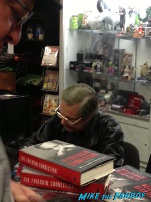 William Friedkin signing autographs for fans dark delicacies rare promo