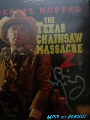 brian mosley texas chainsaw massacre dvd cover tobe hooper signed autograph dvd cover rare