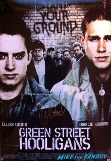 Elijah wood signed autograph green street hooligans mini poster rare