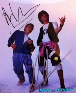 alex winter keanu reeves signed autograph bill and ted's excellent adventure photo poster