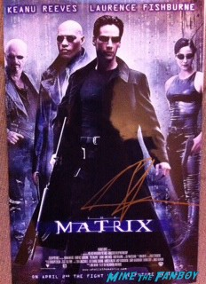 keanu reeves signed autograph matrix movie poster rare promo