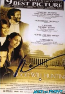 robin williams autograph signed rare robin williams signed good will hunting psoter