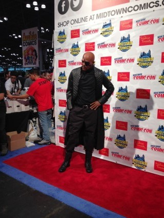 Madame Tussauds nick fury wax statue unveiling samuel l jackson new york comic con
