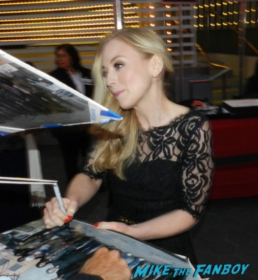 emily kinney signing autographs the walking dead season 4 premiere red carpet norman reedus hot 137