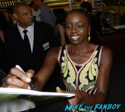 Danai Gurira signing autographs at the walking dead season 4 premiere red carpet norman reedus hot 148