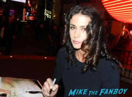 Melissa Ponzio signing autographs for fans at the walking dead season 4 premiere red carpet norman reedus hot 155