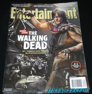 norman reedus signed autograph entertainment weekly magazine rare the walking dead season 4 premiere red carpet norman reedus hot 160