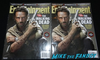 andrew lincoln signed autograph entertainment weekly magazine rare the walking dead season 4 premiere red carpet norman reedus hot 158