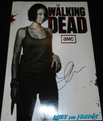 lauren cohen signed mini poster individual rare signing autographs the walking dead season 4 premiere red carpet norman reedus hot 152